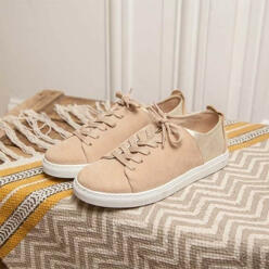 Renee_Beige Suede And Sil...