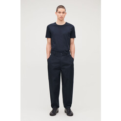 Wide-Leg Pleated Chinos