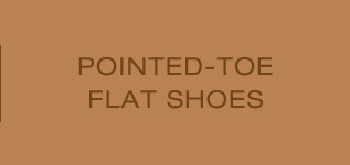 pointed-toe flat shoes